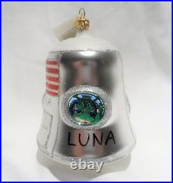 Radko @1995 LUNA SPACE CAPSULE Vintage RARE PROTOTYPE Ornament NEW withTag ITALY