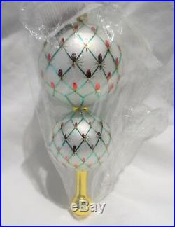 Radko 1999 FRENCH REGENCY RARE Double Ball OrnamentSTILL SEALED NEW wTag&Box