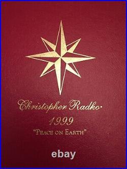 Radko 1999 PEACE ON EARTH Ltd Ed Nativity Angel Ball Ornament NEW #780 of 5,000