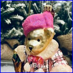 Radko 2004 BLOOMIES SHOPPER MUFFY Bloomingdales Glass Christmas Ornament 3010724