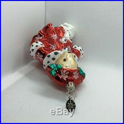 Radko 2004 MUFFY SNOW QUEEN in Red EXCL RG LE Glass Christmas Ornament 3011306