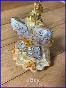 Radko 2006 MUFFY TWINKLE FAIRY GOLD VanderBear Glass Christmas Ornament 1012641