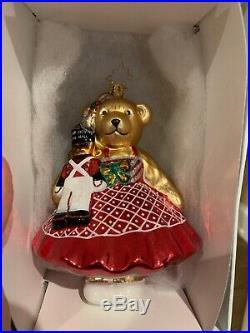 Radko 2015 MUSIC HALL MUFFY VanderBear Glass Christmas Ornament 1017977 Rare