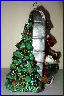 Radko A GLIMPSE OF CHRISTMAS Santa Peeking In Window Ornament 8 New NWT 1016985