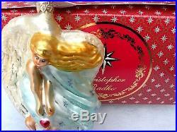 Radko A Loving Heart Angel Christmas 1997 Ornament 97-207-0 w Box n paper tag