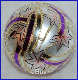 Radko BLUE RAINBOW Christmas Ornament 88-063-1 VINTAGE BALL