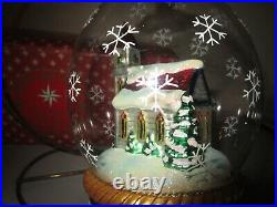 Radko Church Chapel Dome LE Reflector Drop Glass Christmas Ornament Mint + Box