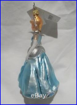Radko Disney 2002 CINDERELLA VERY RARE Princess Ornament Ball Gown NEW withTag