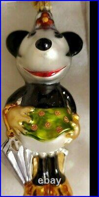 Radko Disney 75th Anniversary Mickey Mouse Ornaments Mickey & Minnie Pair
