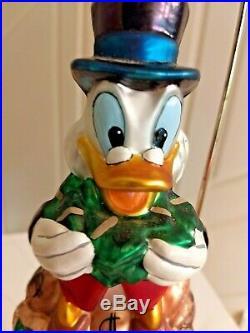 Radko Disney (EBENEZER) SCROOGE McDUCK Ornament MONEY BAGS THRIFTY