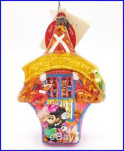 Radko Disney Minnie Mouse Tiki Adventureland Disneyland 50th Ornament with tags