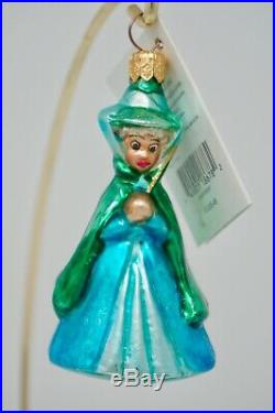 Radko Disney Sleeping Beauty Fairy Flora, Fauna & Merryweather Ornaments