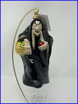 Radko Disney Snow White & 7 Dwarfs Evil Queen Hag Mirror Ornament Set 98-DIS-43