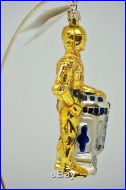 Radko Disney Star Wars C-3PO & R2-D2 Glass Ornament 99-STW-01