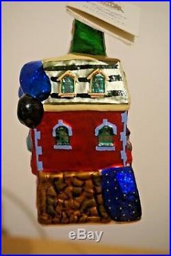 Radko Disneyland 50th Anniversary Main Street USA Mickey Train Disney Ornament