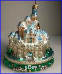 Radko Disneyland Castle Glass Ornament