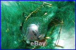 Radko Emerald 8 Dancer Showgirl Glass Ornament #1