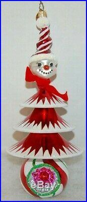 Radko FROSTY TREE TRIM Christmas Ornament 1011322 RARE, ITALIAN SNOWMAN TREE WOW