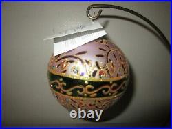 Radko GRAND PAVILLIONS 1010464 Ball Pink Purple Green Christmas Ornament NWT