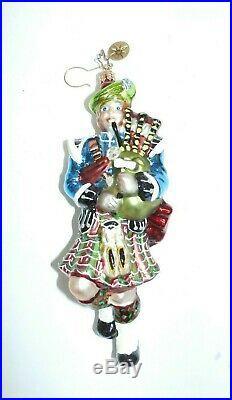 Radko Highland Eleven 12 Days of Christmas Ornament Scottish Bagpiper, 2003