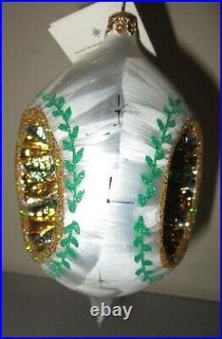 Radko ICE PINE REFLECTION 02-0447-0 Triple Indent Christmas Ornament New NWT