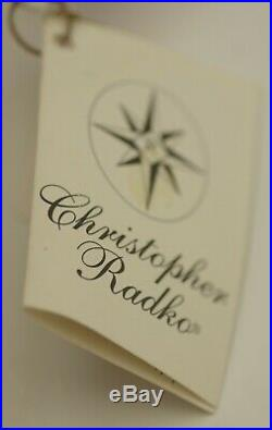 Radko Jingle Claus Ornament 00-458-0 Large Santa With Ball & Reflector Mwt
