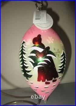 Radko LUCY'S FAVORITE RETURNS Pink Teardrop Christmas Ornament New 1011618 Box