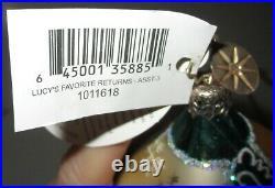 Radko LUCY'S FAVORITE RETURNS Yellow Teardrop Christmas Ornament New 1011618 Box