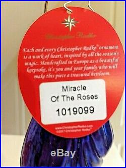 Radko MIRACLE OF THE ROSES Ornament Jeweled Sra. Guadalupe Virgin Mary roses
