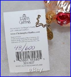 Radko MUFFY ALICE IN WONBEARLAND Christmas Ornament Ltd Ed 48/600 3010937