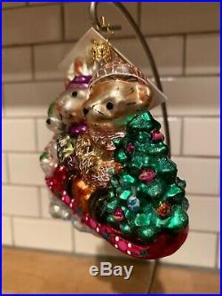 Radko Muffy Sleddin & Skidaddlin Christmas Ornament 02-NAB-04