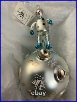 Radko ONE SMALL STEP 7.5 Astronaut moon space Ornament 94-314-0 broke helmet
