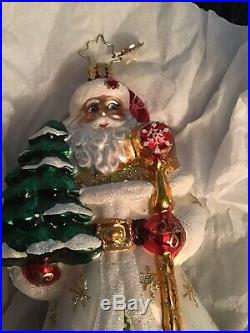 Radko Old Tyme Tidings Santa Christmas Ornament, Stunning White Robe, Mint Cond