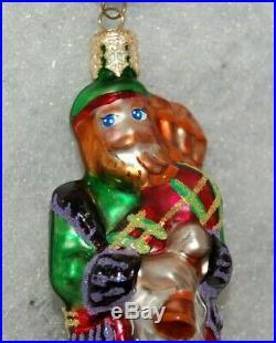 Radko PLAID PIPERS #11 Christmas Ornament 12 Days of Christmas 01-0891-0