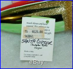 Radko SANTA COPTER Christmas Ornament 94-306-1 RARE HELICOPTER