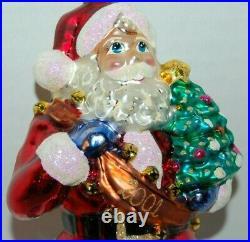 Radko SANTA'S BANNER YEAR 2001 Christmas Ornament 01-0596-0 LARGE