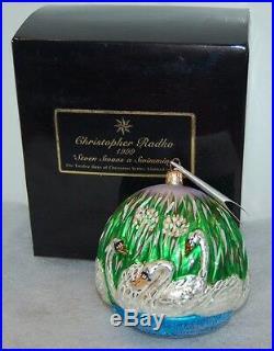 Radko SEVEN SWANS A SWIMMING Christmas Ornament 99-SP-42 Ltd Ed 4,019/10K