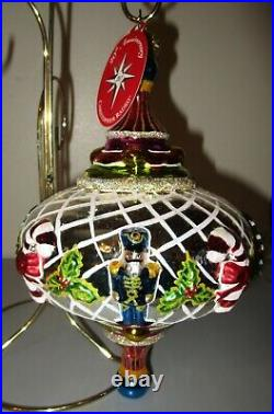 Radko SPINTOP MEMORIES 1011636 Large Spin Top Christmas Ornament NWT NEW