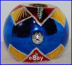 Radko STARFIRE Christmas Ornament 93-175-0 VINTAGE BALL WITH 2 REFLECTORS