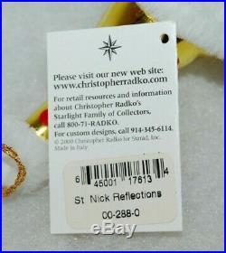 Radko ST NICK REFLECTIONS Christmas Ornament 00-288-0 HUGE SANTA W. REFLECTOR