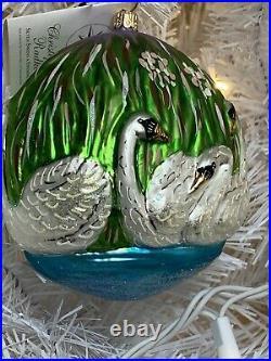 Radko Seven Swans A Swimming Twelve 12 Days of Christmas Ornament NIBWT #2187