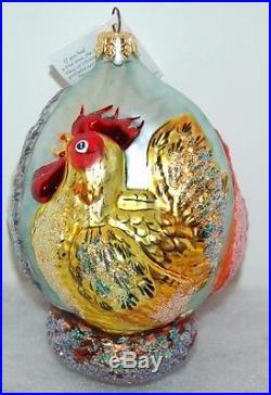 Radko THREE FRENCH HENS Christmas Ornament 95-SP-9 Ltd Ed 5557/10K