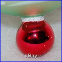 Radko Vintage ALPINE VILLAGE Christmas Ornament 92-105-0 LARGE 3 BALL DESIGN