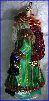 Radko Vintage Emerald Santa Vintage Ornament