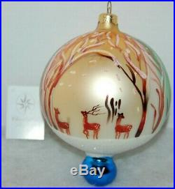 Radko WINTER FOREST Christmas Ornament 96-273-0 RARE, LARGE BALL With DROP