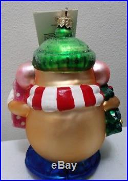 Rare 1998 Christopher Radko Mr. Potato Head Lumberjack Glass Ornament With Box