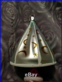 Rare 91-137-0 Christopher Radko ALL WEATHER SANTA Hand Blown Christmas ornament