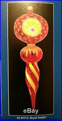 Rare 92-087- Christopher Radko Royal Scepter Blown Glass Christmas Ornament 10