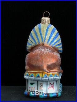 Rare Christopher Radko 1999 Eternal Mystery Egyptian Sphinx Ornament 99EGY3