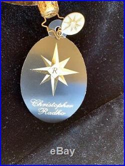 Rare Christopher Radko 2008 Patriotic Christmas Ornament #1014236 G. O. Pachy